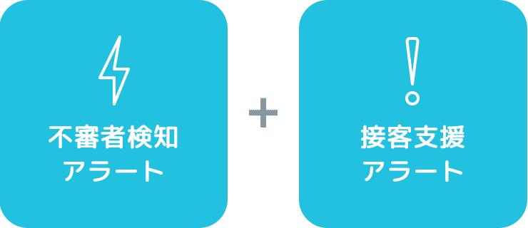 androidOS対応 防犯アラート + androidOS対応 接客支援アラート